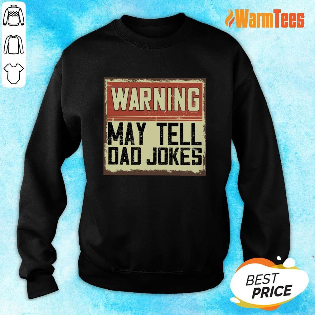 Warning May Tell Dad Jokes Vintage Sweater