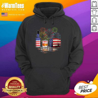 Whisky USA Flag Firework Hoodie