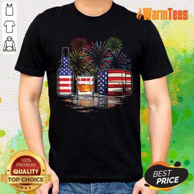 Whisky USA Flag Firework Shirt
